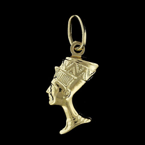 18K Yellow Gold Nefertiti Charm