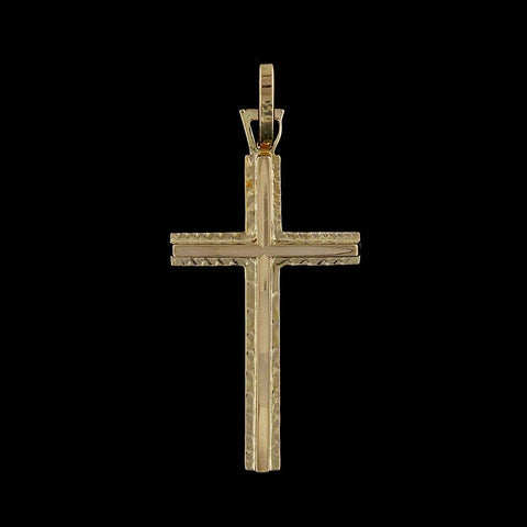 18K Yellow Gold Cross
