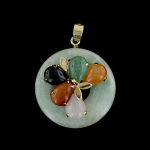 14K Yellow Gold Jadeite Pendant