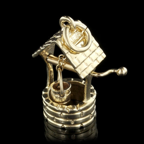 14K Yellow Gold Wishing Well Charm