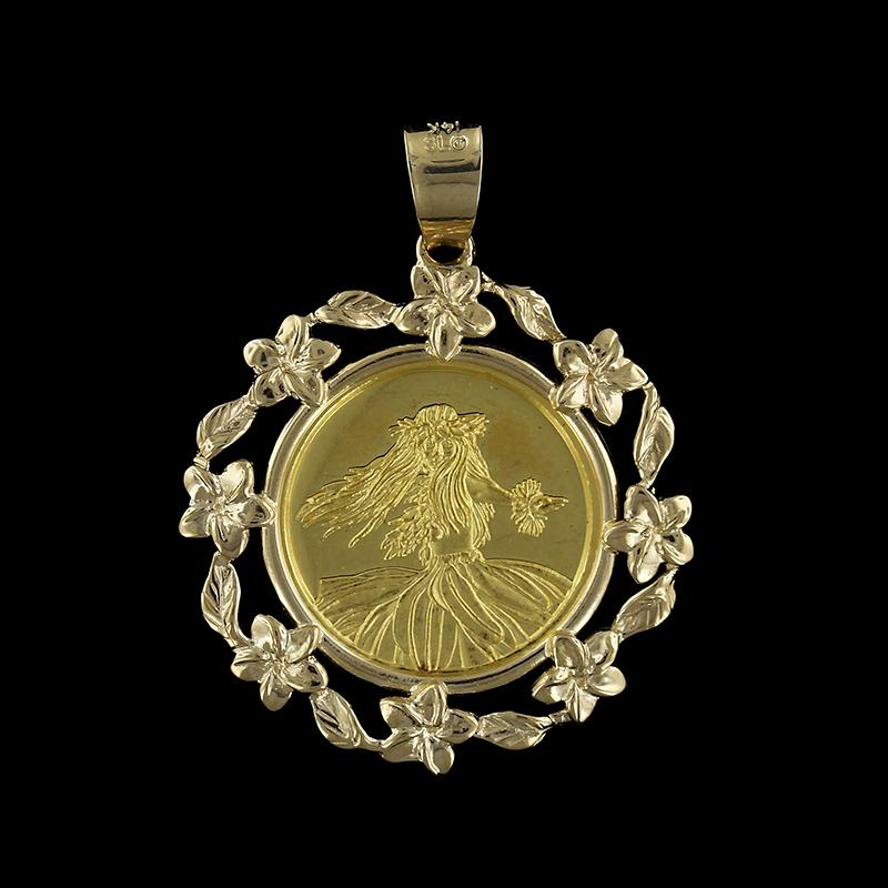 14k and 24k yellow gold kim taylor reece gold coin pendant longs 14k and 24k yellow gold kim taylor reece gold coin pendant aloadofball Images