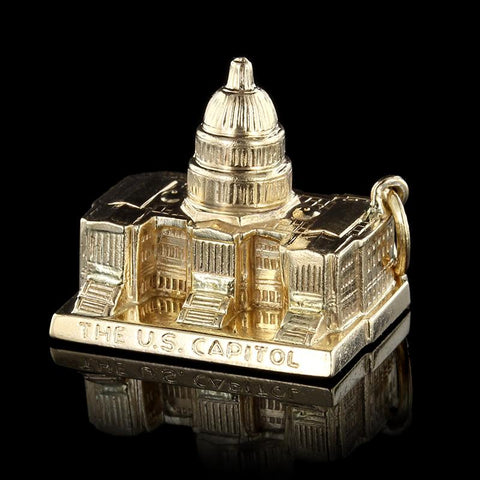 14K Yellow Gold U.S. Capitol Charm