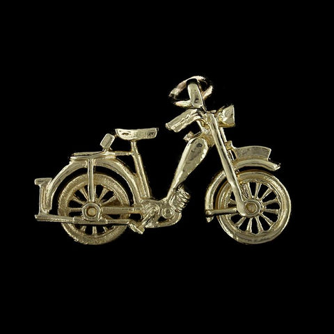 14K Yellow Gold Bicycle Charm