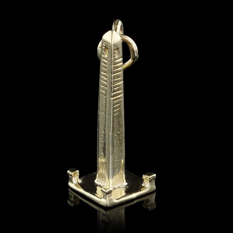 14K Yellow Gold Monument Charm