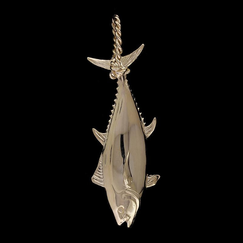 14K Yellow Gold Estate Tuna Fish Charm