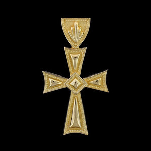 18K Yellow Gold Estate Cross
