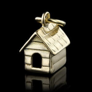 14K Yellow Gold Dog House Charm