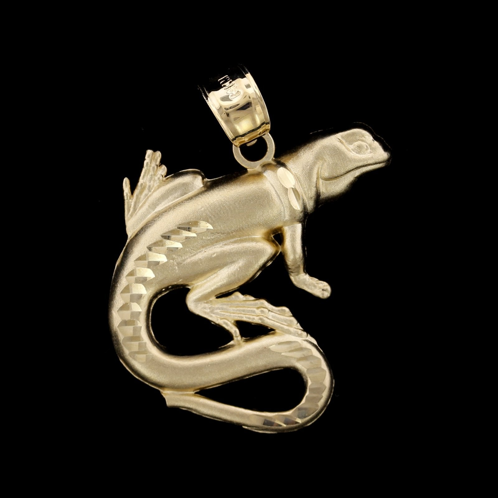 14K Yellow Gold Estate Lizard Charm