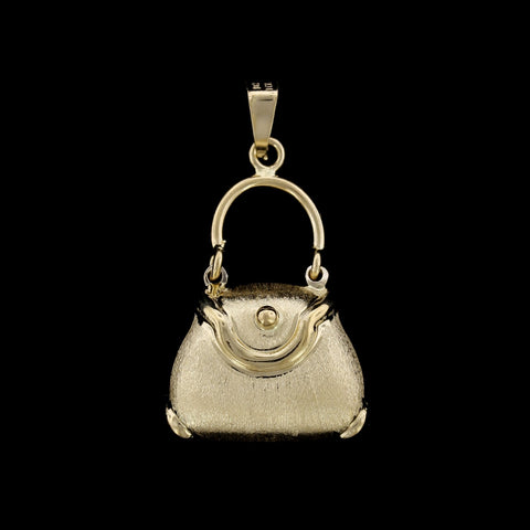 18K Yellow Gold Pocket Book Charm
