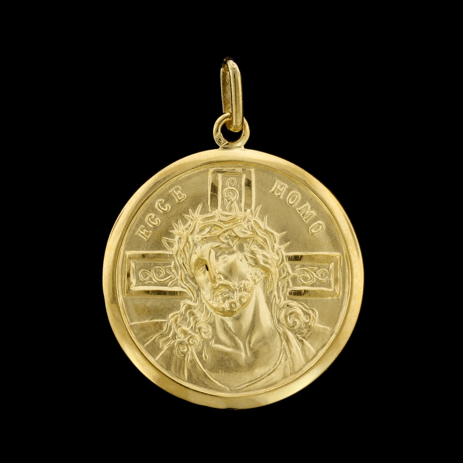 18K Yellow Gold Estate Head of Christ Medal