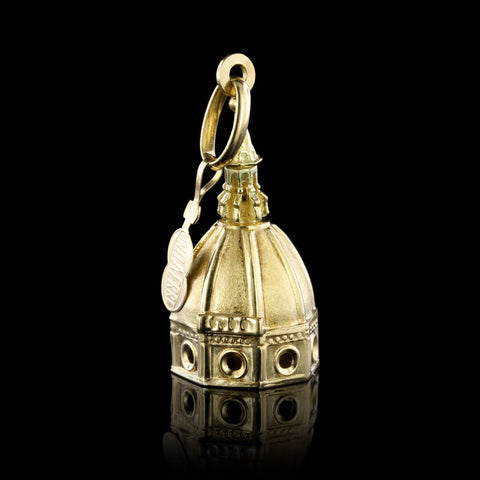18K Yellow Gold Church Cathedral Charm