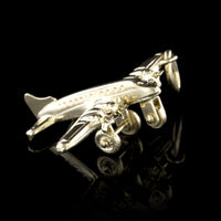 14K Yellow Gold Airplane Charm