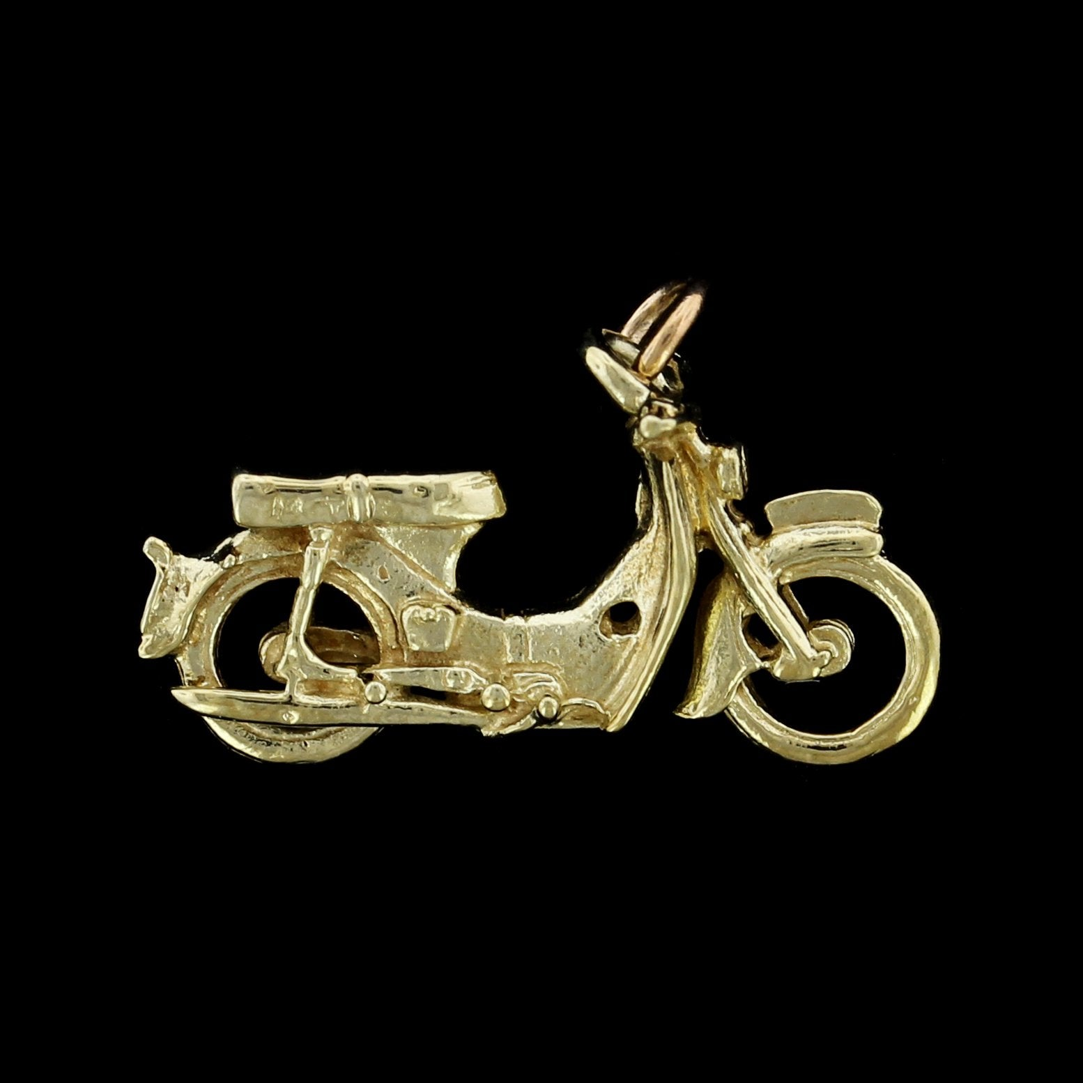 14K Yellow Gold Estate Motorcycle Charm