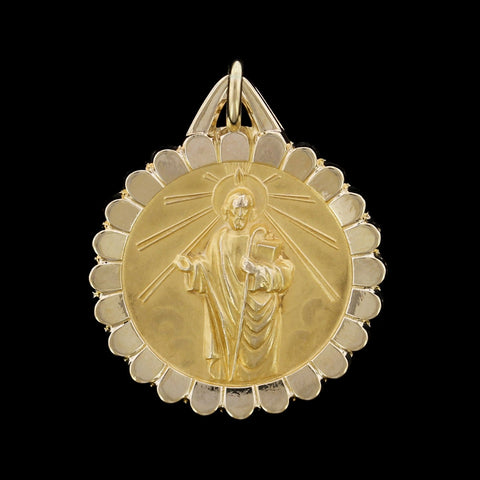 14K Yellow Gold St. Jude Thaddeus Medal
