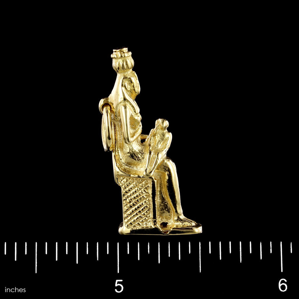 18K Yellow Gold Estate Egyptian Mother and Child Charm