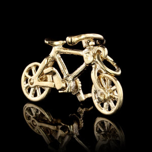 14K Yellow Gold Movable Bicycle Charm