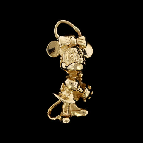 14K Yellow Gold Minnie Mouse Charm