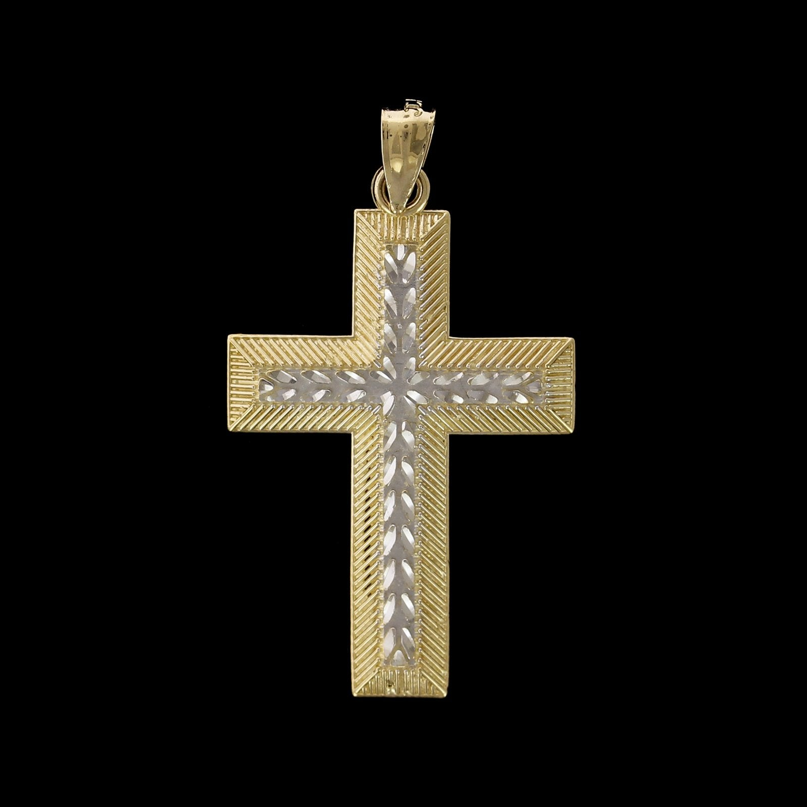 14K Two-tone Gold Estate Cross