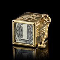 14K Yellow Gold Estate Mad Money Charm