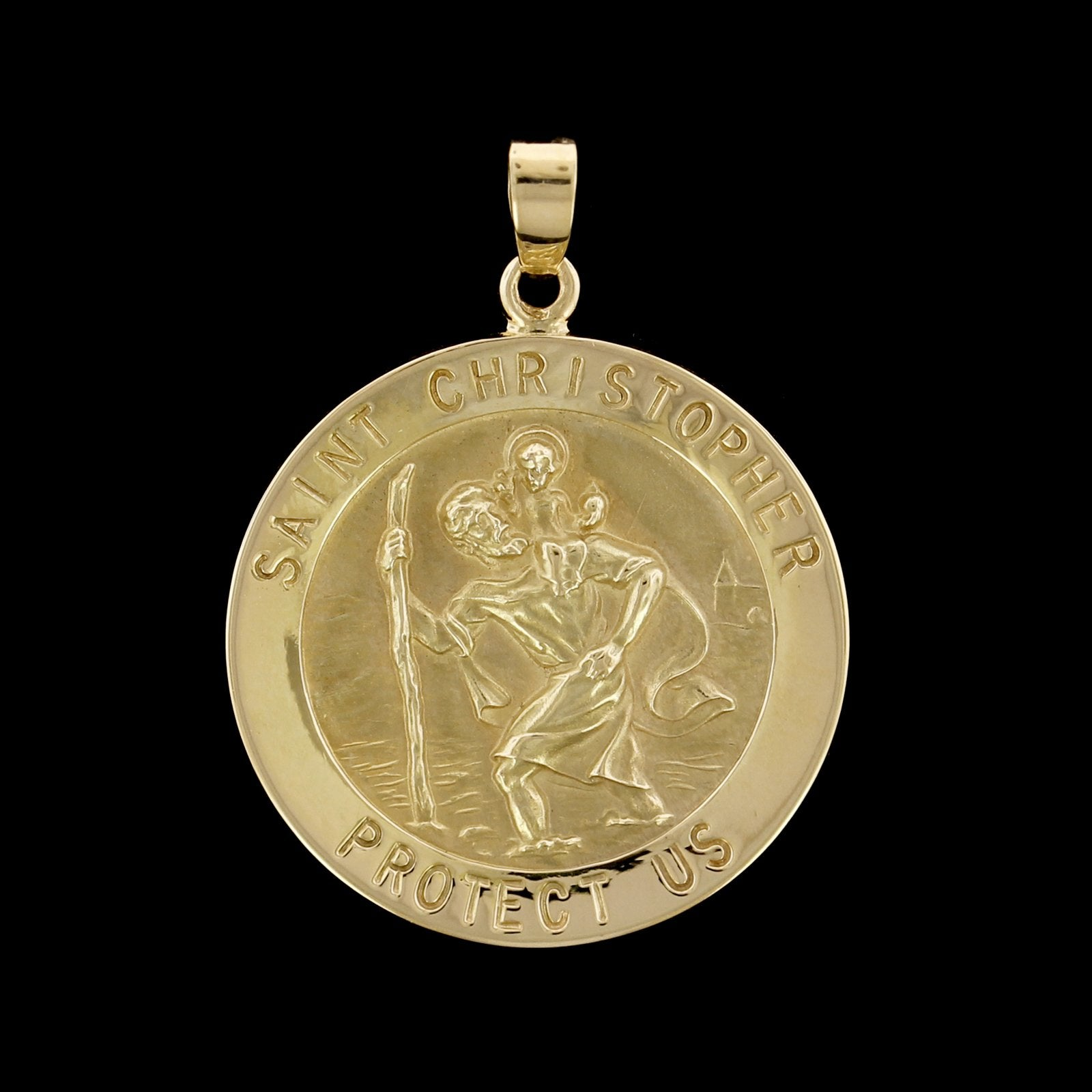 14K Yellow Gold Estate St. Christopher Medal