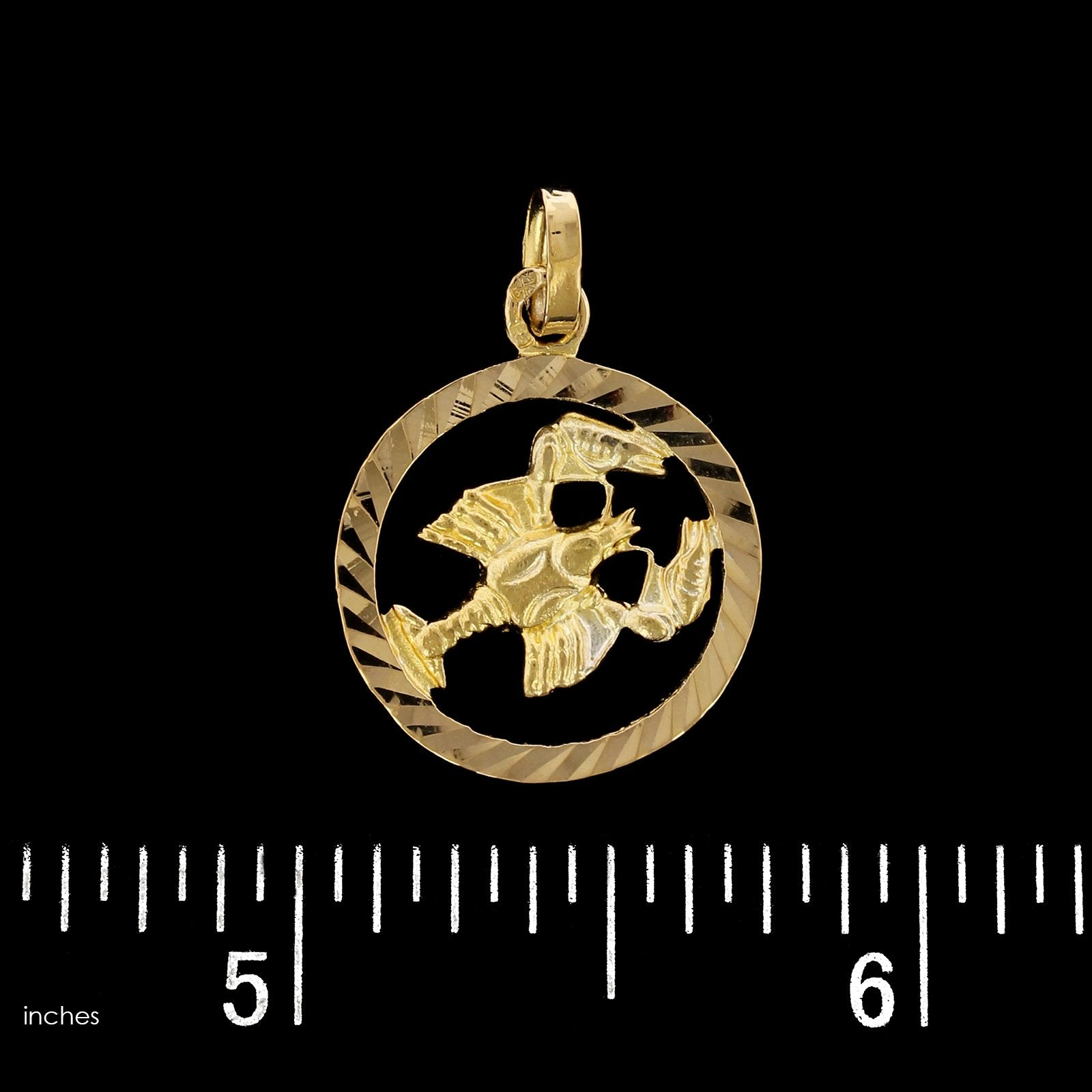 18K Yellow Gold Estate Lobster Charm