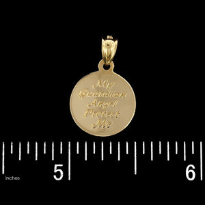 14K Yellow Gold Estate Guardian Angel Charm