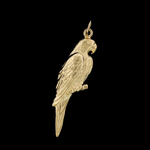 14K Yellow Gold Estate Parrot Charm