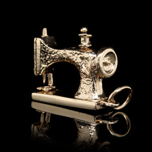 14K Yellow Gold Estate Sewing Machine Charm