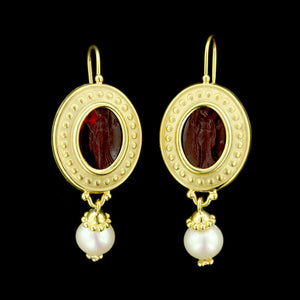 Tagliamonte 14K Yellow Gold Venetian Glass and Pearl Earrings