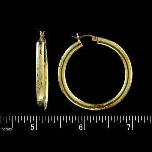 18K Yellow Gold Hoops