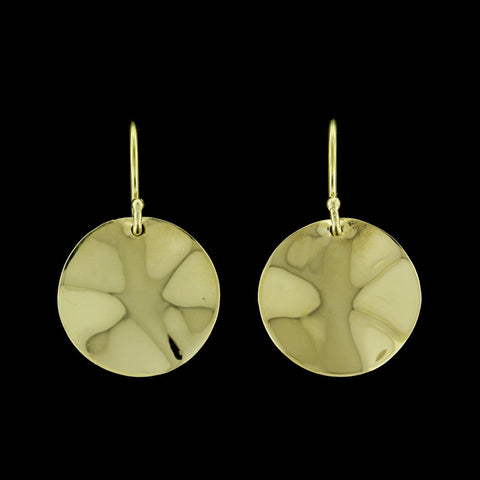 Ippolita 18K Yellow Gold Glamazon Mini Wavy Disc Drops