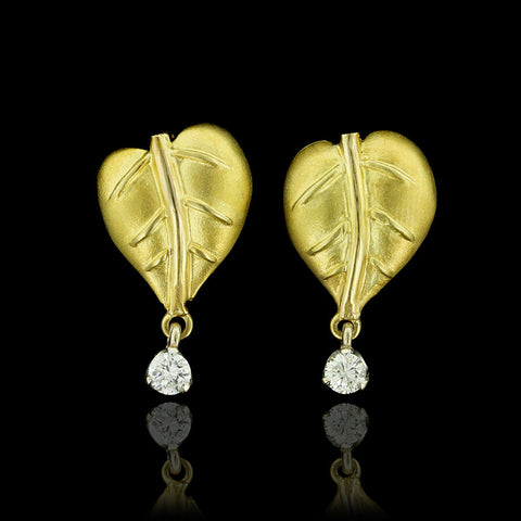 18K Two-tone Gold and Diamond Earrings