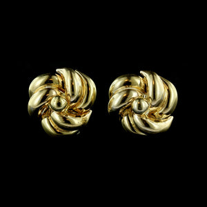 Tre Esse 18K Yellow Gold Knot Earrings