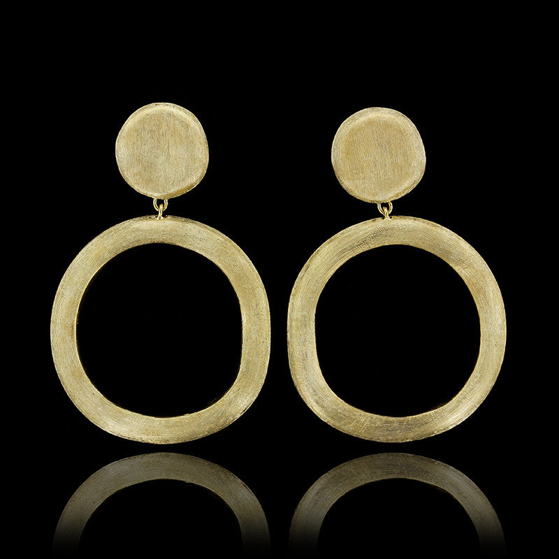 Marco Bicego 18K Yellow Gold Jaipur Circle Drop Earrings