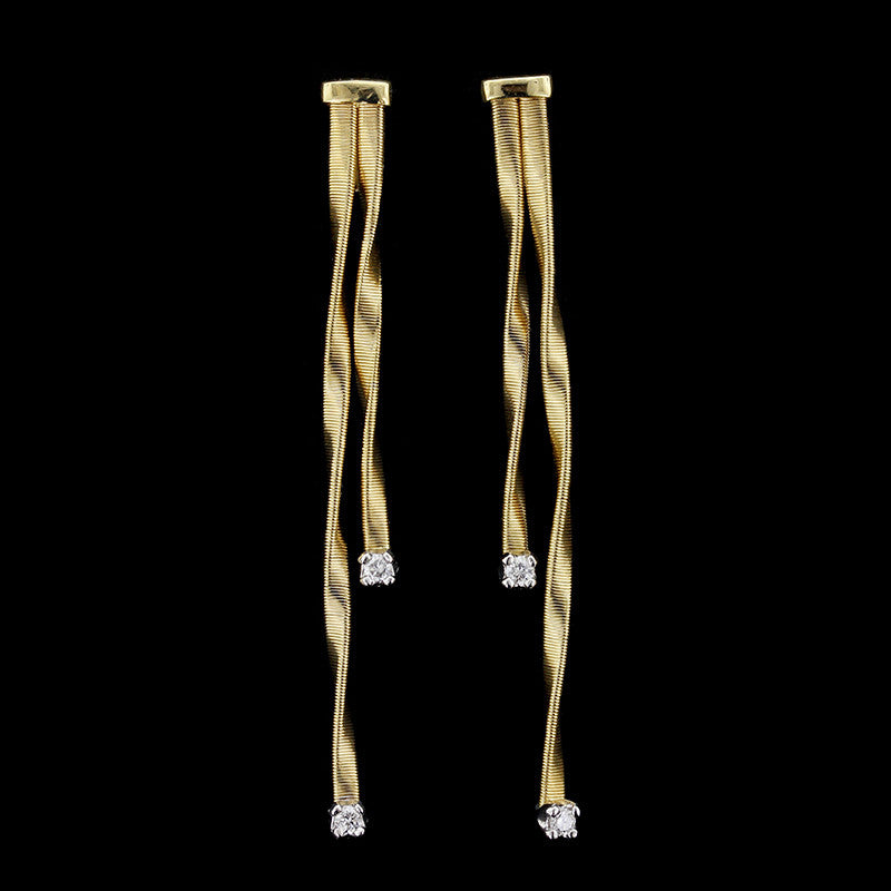 Marco Bicego 18K Yellow Gold Marrakech Diamond Earrings