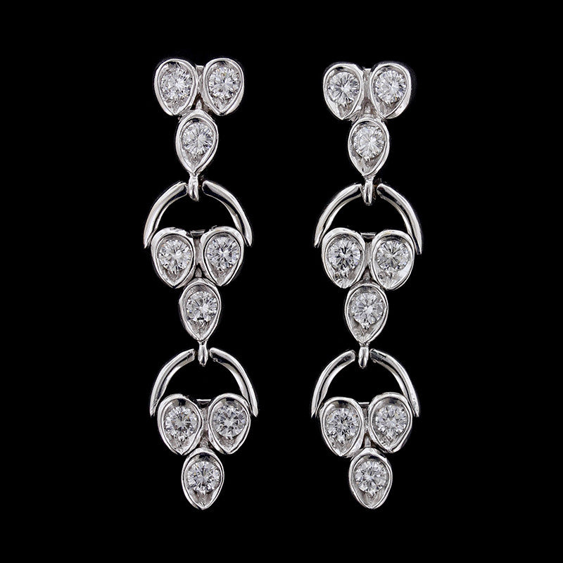 Garavelli 18K White Gold Diamond Earrings