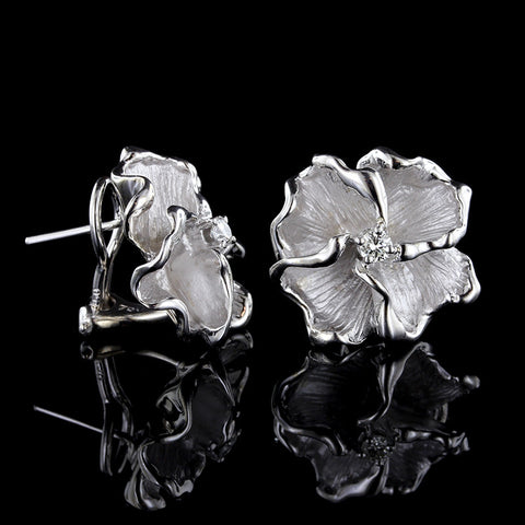 Hammerman Bros. 18K White Gold Diamond Earrings