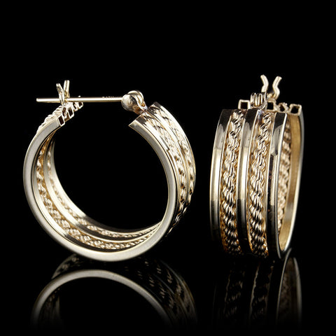 14K Yellow Gold Hoops