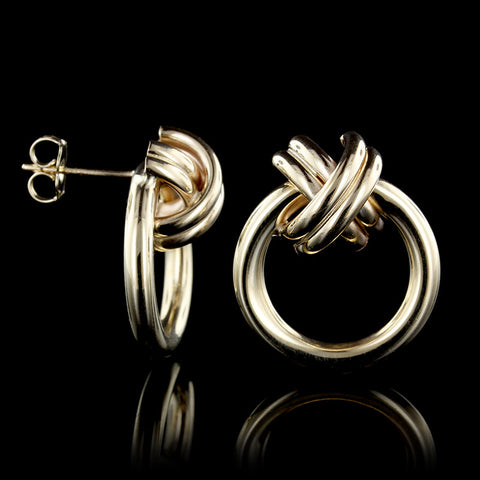 14K Yellow Gold X Hoops