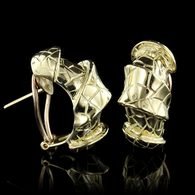 J. Roca 18K Yellow Gold Earrings