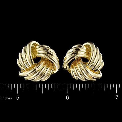 Tiffany & Co. 18K Yellow Gold Love Knot Earrings