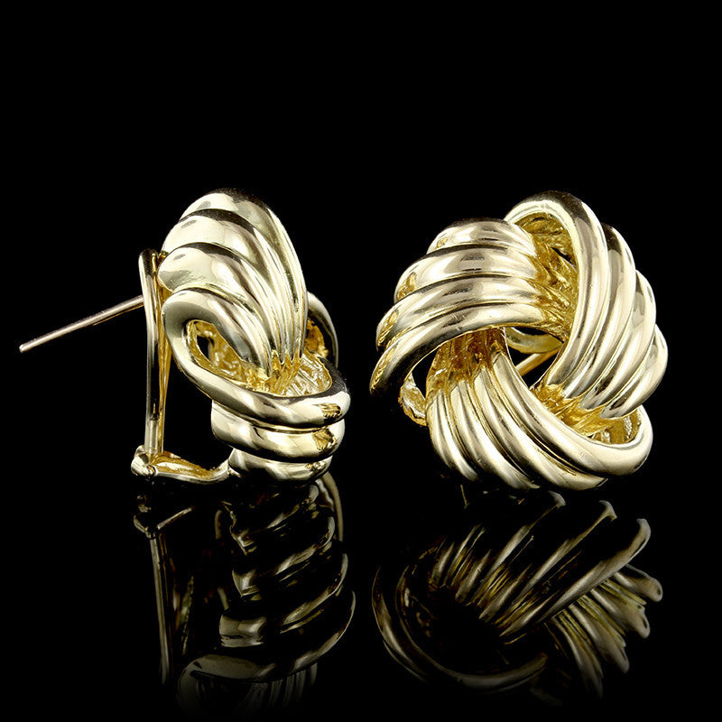 earrings love product italian jewelry polish gold yellow watches knot high fremada mm
