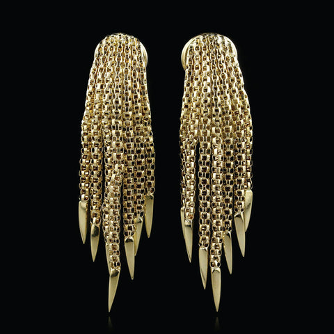 18K Yellow Gold Earrings