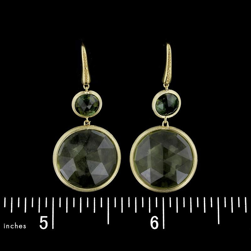 Marco Bicego 18K Yellow Gold Jaipur Green Tourmaline and Lemon Citrine Earrings