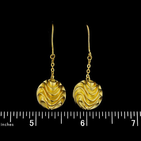 20K Yellow Gold Drop Earrings