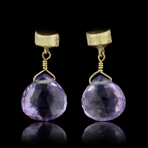 Marco Bicego 18K Yellow Gold Amethyst Earrings
