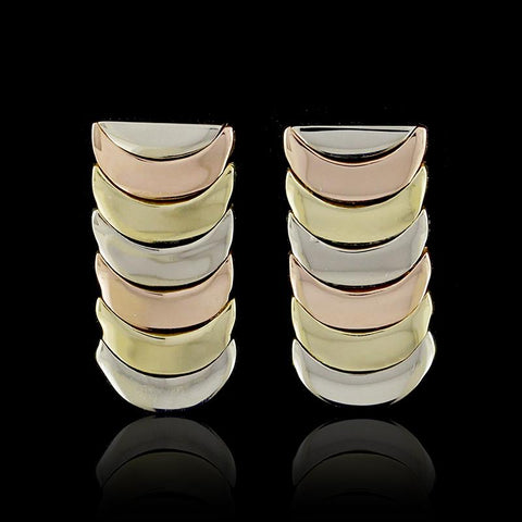 18K Tricolor Gold Earrings