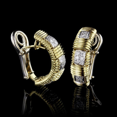 Roberto Coin 18K Yellow Gold Diamond Appasionata Earrings