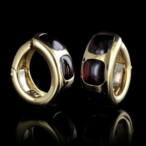 Pomellato 18K Yellow Gold Garnet Earrings