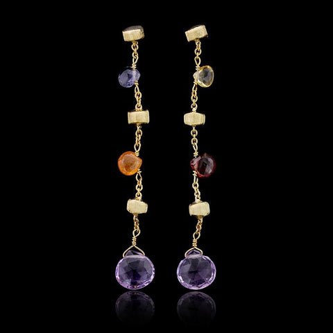 Marco Bicego 18K Yellow Gold Paradise Gemstone Earrings